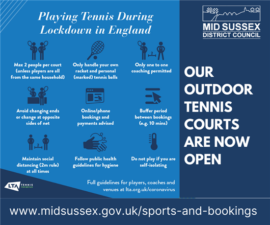 Tennis courts available again