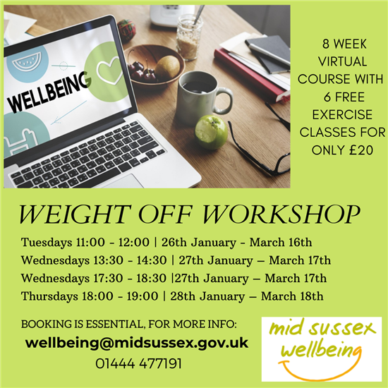 Weight Off Workshops poster